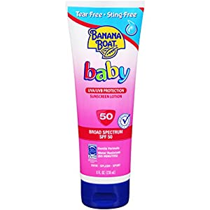 Banana Boat Baby Sunscreen Tear-Free Sting-Free Broad Spectrum Sun Care Sunscreen Lotion - SPF 50, 8 Ounce