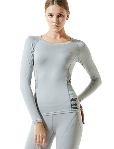 TM-WR34-LGY_Small Tesla Women's Thermal WinterGear Compression Baselayer Long SleeveT Shirts WR34/WV26/WLR21/WT32