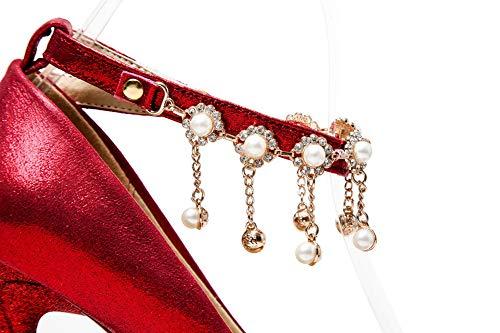 5 Red Sandales APL10664 EU 36 BalaMasa Rouge Compensées Femme X0xnUZ