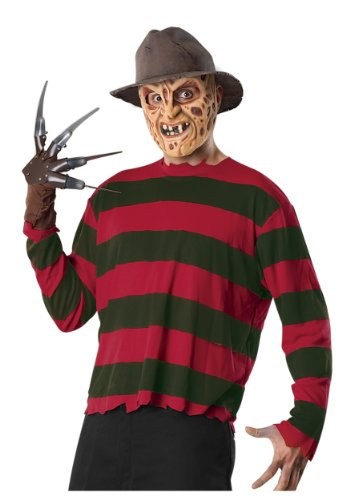 Freddy Mask For Sale (Rubies Mens Krueger Freddy Nightmare On Elm Street Fancy Dress Costume, One Size)