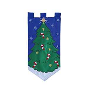 Christmas Tree With Candycanes Fiber Optic Wall Hanger