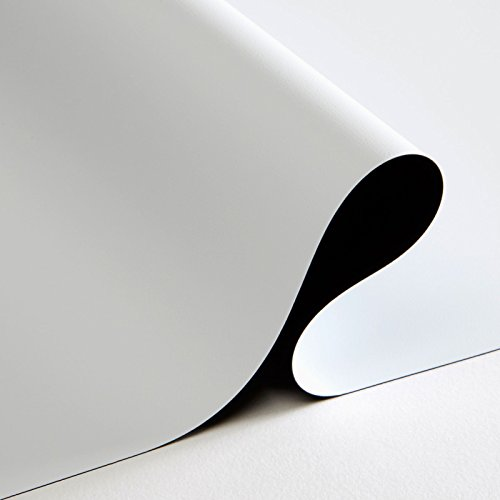 Carl's FlexiWhite Projector Screen Material (16:9 | 86x153 | 175-in | Rolled) HD & Active 3D, Matte White, DIY Projector Screen, Dark Rm, Controlled Ambient Light, Tensioned, Raw Pre Cut Cloth ()