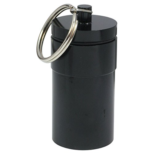 HTS 261D0 Grand Pill Noir récipient avec porte-clés
