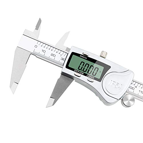 - Digital Caliper 6 inch/150 mm Electronic Vernier Calipers IP54 Water Resistant Measuring Tool Waterproof Stainless Steel Caliper with Auto-off Function Extra Large LCD Screen Display by RUBEDER