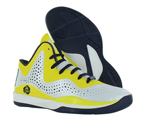 Adidas Mens D Rose 773 Iii Bianco / Nero / Giallo
