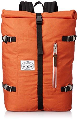 Poler Men's Retro Rolltop Backpack, Burnt Orange, One (Roll Skate Backpack)