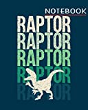 Notebook: dinosaur velociraptor gift idea - 50 sheets, 100 pages - 8 x 10 inches