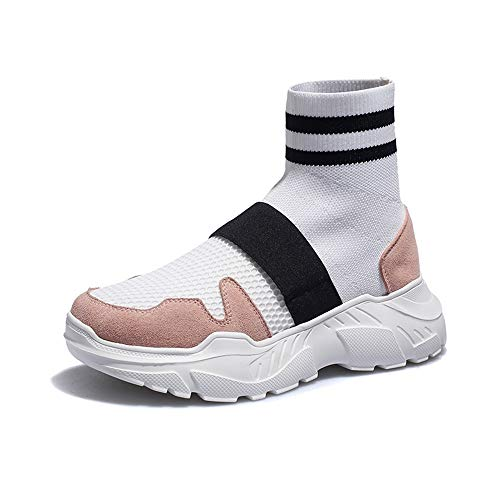 Blanco Socks Hop Alta De Estilo Malla De Calidad Fondo Hip Estilo Nuevo Zapatos Estilo De Elástica XINGMU 70qxgaZwf