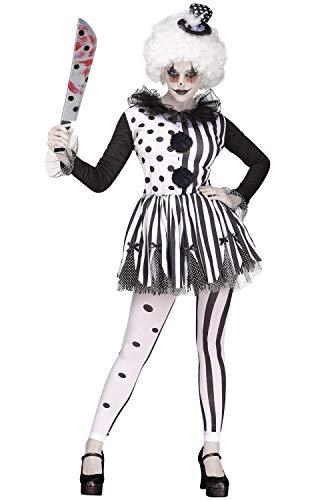Womens Clown Costumes (Fun World Women's Med/lrg Killer Clown Adlt Cstm, Multi,)