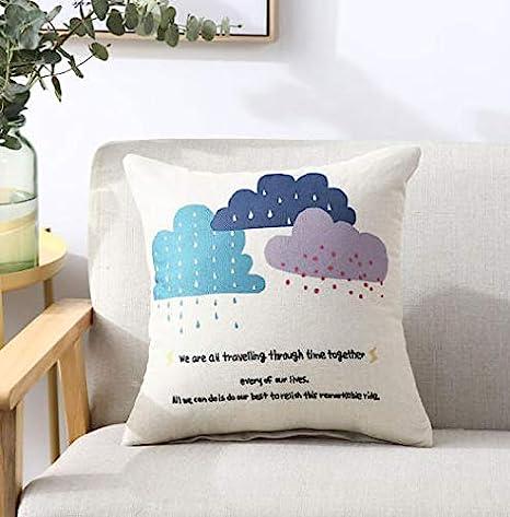Almohada de lino sofá cojín oficina almohada cama cabeza ...
