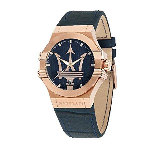 MASERATI Reloj Analógico para Hombre de Cuarzo con Correa en Cuero R8851108027: Amazon.es: Relojes