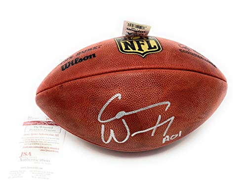 Carson Wentz Phildelphia Eagles Signed Autograph NFL Authentic Duke Football JSA Witnessed Certified