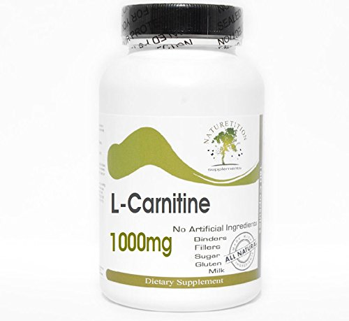 L-Carnitine 1000mg ~ 100 Capsules - No Additives ~ Naturetition Supplements