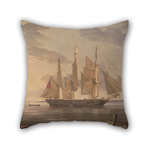 Oil Painting Robert Salmon - Ships In Harbor Pillow Shams ,best For Bar Seat,kids Boys,kids Girls,valentine,outdoor 20 X 20 Inches / 50 By 50 Cm(twice (Home Made Dog Costume)