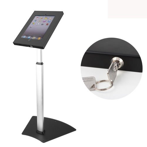 Impact Mounts Ipad Adjustable Height Floor Stand with Anti-theft Lock with Key Fits Ipad 2 3 4 Air Kiosk Safe Security Public Floor Stand Cable Management by Impact Mounts