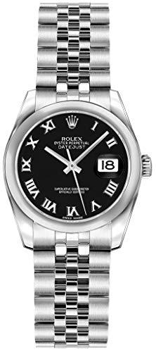 (Rolex Lady-Datejust 26 179160 Black Roman Numeral Dial Jubilee)