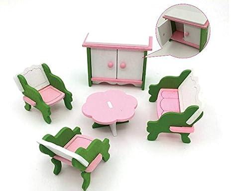 Decorazioni In Legno Per Bambini : Udane decorazioni per accessori per casa delle bambole set