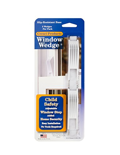cresci products window wedge, white (2 per pack)