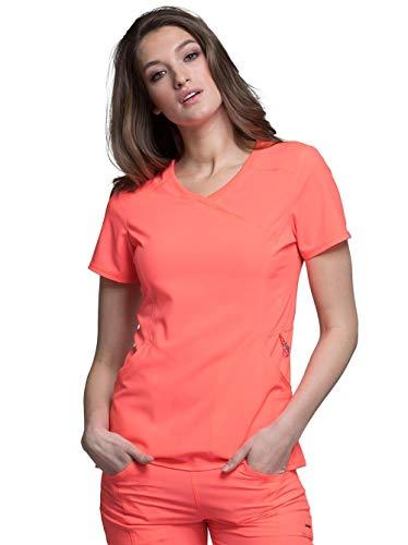 (Cherokee Infinity Women's 2625A Mock Wrap Scrub Top (Orange Sugar, X-Large))