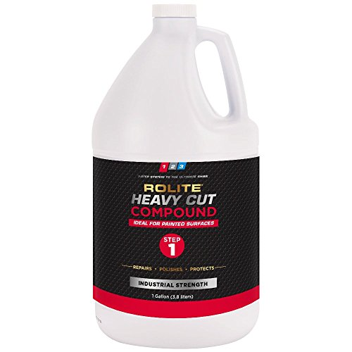 Rolite Heavy Cut Compound (1gallon) for Removing P1200 and Finer Scratches & Abrasion Marks for Automotive Clear-Coat Paints, Low Sling, No Mess by Rolite