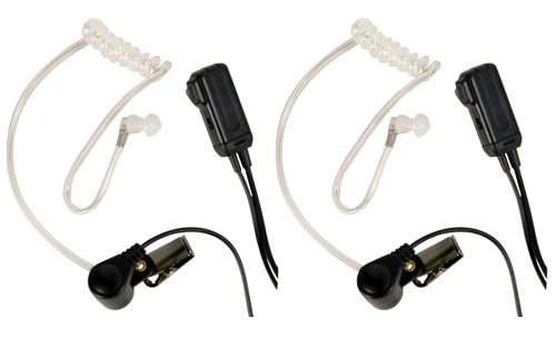 Midland AVPH3 Transparent Security Headsets with PTT/VOX - Pair