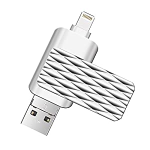 Lightning Flash Drive For iPhone ,Suntrsi Pen-Drive Memory Storage Lightning Memory Stick External Storage OTG Flash Drive Compatible to iPhone,iPad,iPod,Mac,Android and PC