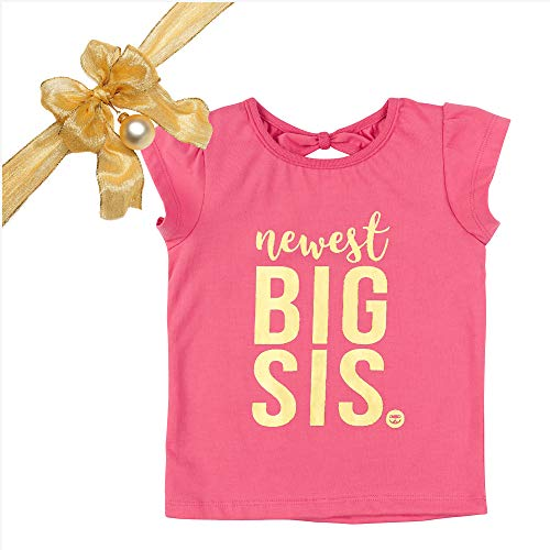 Big Shirt Sister Toddler - Fayfaire Big Sister Shirt Outfit : Boutique Quality Pregnancy Announcement Newest Big Sis 2T