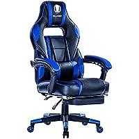 KILLABEE Reclining Memory Foam Racing Gaming Chair (Blue)