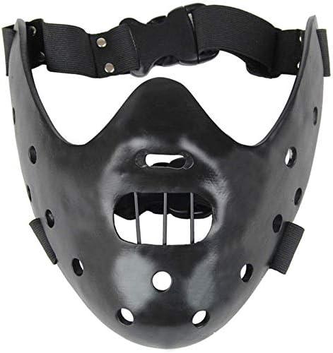 Máscara de la mascarada de Cosplay El silencio de los corderos Máscaras Hannibal Lecter resina (Negro): Amazon.es: Juguetes y juegos