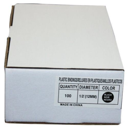 - 1/2 (12MM) Black Plastic Binding Combs - 100pk by MyBinding