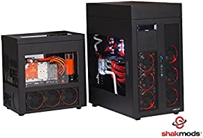 shakmods 6 + 2 pin PCIe tarjeta gráfica GPU negro rojo manga heatshrinkless Cable de extensión con 2 libre Cable peine 30 cm