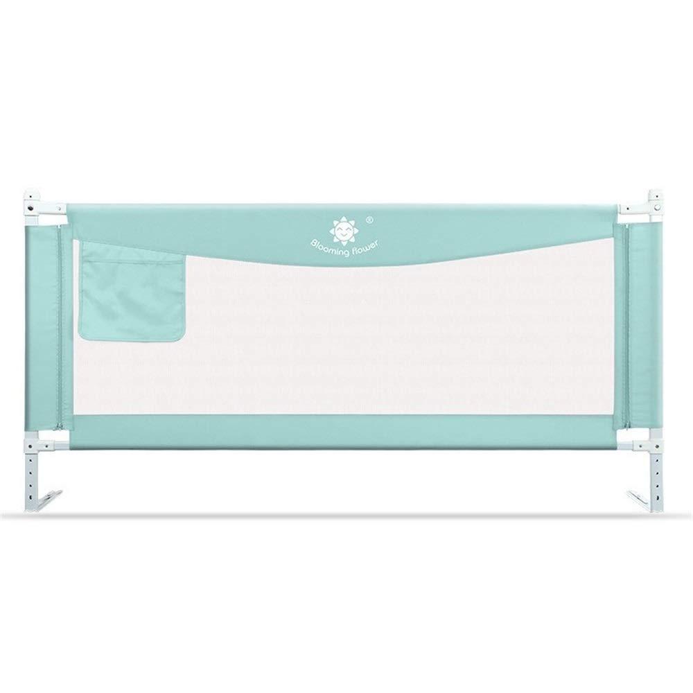 ポータブルキッズベッドレール垂直昇降ベッドガード安全保護ガード、幼児赤ちゃんと子供のための反落下ベッドガードレール1個 (Color : Green, Size : 2m) 2m Green B07V4N9CRW