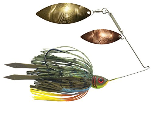 Bluegill spinnerbait double willow spinner bait high for Bluegill fishing lures