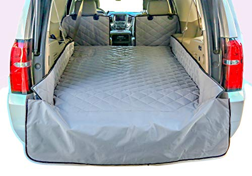 Diamond Expedition Ford - Plush Paws Refined Cargo Liner for Dogs - XL Grey, Waterproof & Nonslip Silicone Backing for Trucks & Suv's