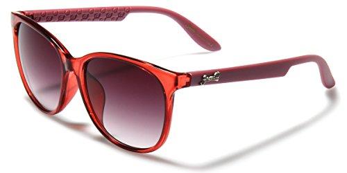 Giselle Vintage Horn Rimmed Women's Sunglasses with Translucent - Horn Red Rimmed Glasses