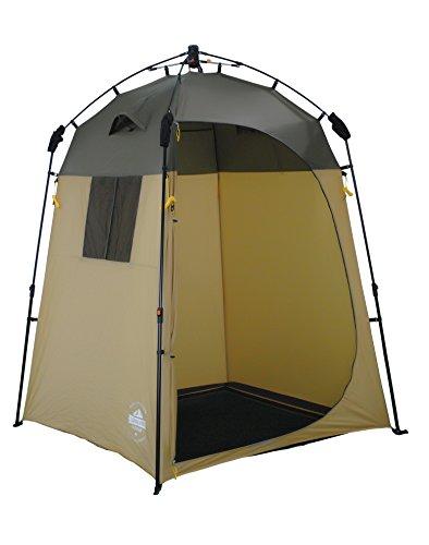 Lumaland Outdoor Pop Up Duschzelt Umkleidezelt Toilettenzelt Stehzelt Camping 155x155x220 cm robust