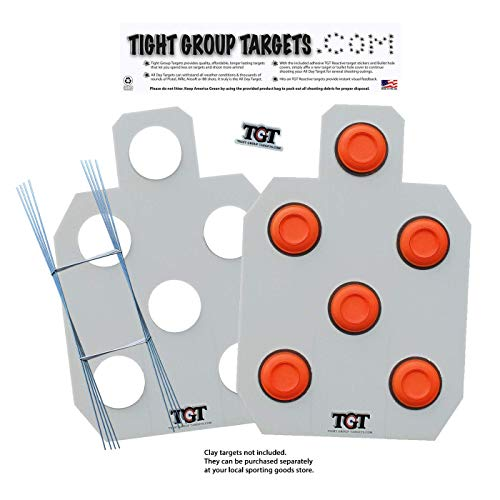Tight Group Targets All Day Clay Target Package - 2-Pack (White) for $<!--$26.99-->