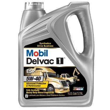 Mobil (112825-4PK) Delvac 1 ESP 5W-40 Motor Oil - 1 Gallon, (Pack of 4) (Mobil One 5w40 compare prices)