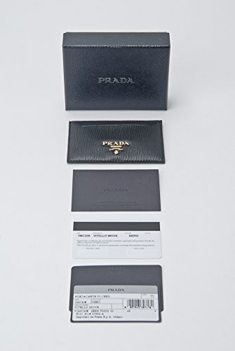 With Box Prada Holder Move Black Card Vitello Credit Leather Wallet rXqwXTp