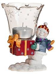 Gorham Winter Follies Snowman Votive