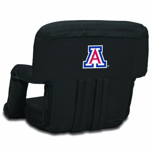 NCAA Arizona Wildcats Ventura Portable Reclining Seat, Black