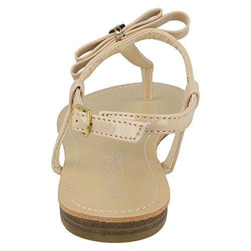 Flat Trim Spot Ankle Toepost Strap Nude Metal On Bow Sandal 5qwpC4w
