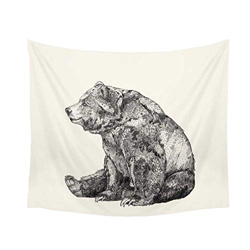 KaiPoint Furniture Decor Tapestries Nordic Style Hanging Cloth Background Cloth Tapestry Background Wall Sofa Towel (Bear)