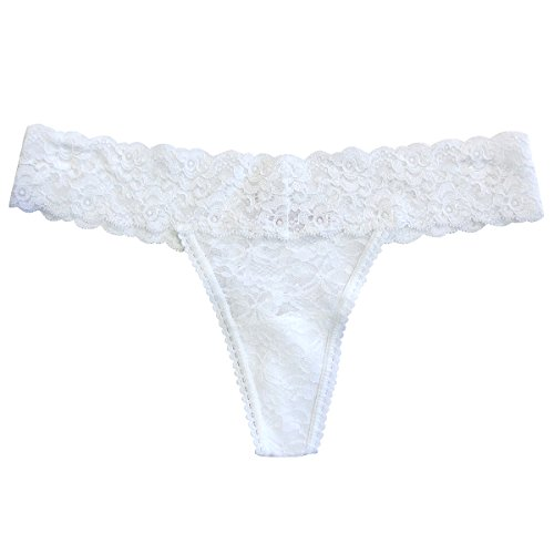 Undie Couture Lace Thong, White