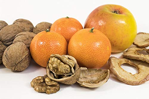 Photography Poster - Walnut, Mandarin, Apple, Snack, Gloss Finish ()