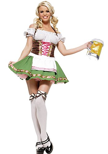 BOZEVON Women's Dirndl Dresses Halloween Oktoberfest Parties Costume Beer Maid Cosplay Sexy Fancy Dress, Style-5 ()