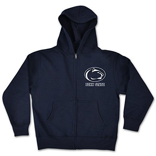 College Kids NCAA Penn State Nittany Lions Youth Zip Hoodie, Size 7/X-Small, Navy
