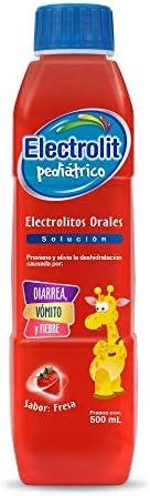 Electrolit   Suero Rehidratante Pediátrico, Sabor Fresa, 500 Mililitros (ml), Individual