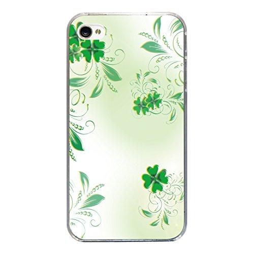 """Disagu Design Case Coque pour Apple iPhone 4s Housse etui coque pochette """"Grünes Glück"""""""