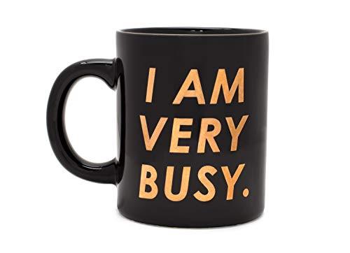 ban.do Hot Stuff Ceramic Coffee Mug Tea Cup, 11 Ounces (I Am Very Busy)